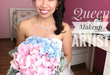 Bride's photos taken by my phone by Queen Makeup Artist