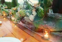 Natural Romantic In Green,white And Apricot by magical blossoms