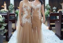 Elle & Mia Bridal Party Gowns by Angela Chung Design