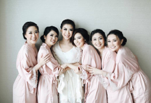 Makeup and hairdo for the bridesmaid by Rachel Liem Makeup