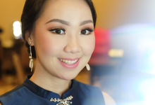 Makeup and hairdo for bridesmaid by Rachel Liem Makeup