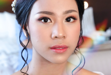 Engagement makeup and hairdo by Rachel Liem Makeup
