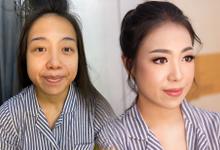 Trial wedding makeup for Mrs. Audrey Martina by Rachel Liem Makeup