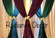 Various backdrops and centrepieces created by us! by Radiance Decor