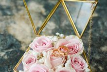 Elegant Rose Gold & Blush by Bali Izatta Wedding Planner & Wedding Florist Decorator
