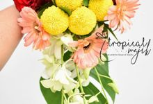 Fresh Tropical Flowers by Tropical Majik