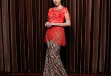 Red Flower Kebaya Detail by Zena