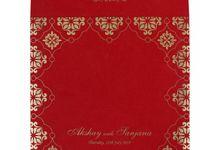 Wedding invitation design for Akshay & Sanjana wedding by 123WeddingCards