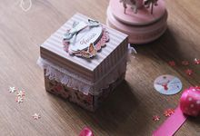 Pink Floral Exploding Box (3layer) by Cora Craft