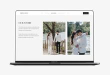 Wedding Website - Robert & Caroline by Our Days & Co - Wedding Website Design