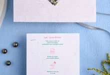 Rosa Bonica: Plantable Seed Paper Wedding Invite by Plantables