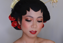 Makeup & hairdo bride traditional solo by Rose Makeupartist