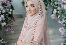 Rosegold Sparkling Sahaja Series by LAKSMI - Kebaya Muslimah & Islamic Bride
