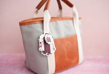 Tote Bag Leather & Canvas - Gary & Feni by Rove Gift