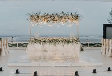 Wedding decorations by Joseph at St regis by Red Gardenia