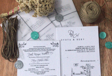 DYOTA&HARY  Invitations A5 using handmade recycled paper art. by Rubah Kertas