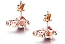 Tiaria Butterfly Ruby Earrings Perhiasan Anting Emas dan Betu Merah Delima by TIARIA