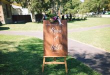 Bespoke Wooden Wedding Signs by Nikki Design Co.