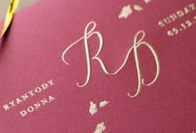 Wedding Invitation - Elegant Marron with Gold by Kanoo Paper & Gift