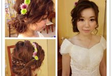 Bridal Makeup and hairstyling by Weiyee-makeup