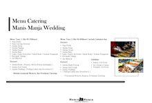 Catering by Manis Manja Wedding