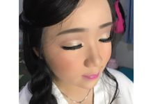 Makeup for cute Ms Revilia by La'Bride Bridal