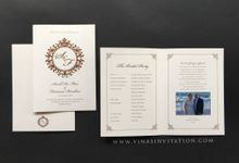 Sarah & Fransesco - stationary by Vinas Invitation