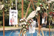 3 Frames - The Wedding of Arie & Vivi by Illustation