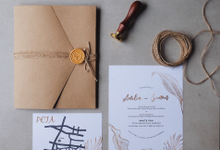 Wedding Invitation Amilia & Simon  by Sae Creative