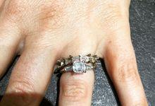 Emerald Cut Diamond Full Eternity Ring by Fiftyseven Diamond Jewellery