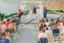 Romantic elegant wedding in Santorini by MarrymeinGreece