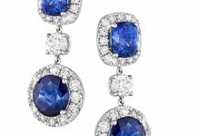 Bespoke Unheated Sapphire Wedding Earrings by Heritage Gems Singapore