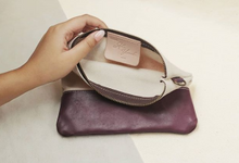 Adi & Yunike - Leather Canvas Pouch by Rove Gift