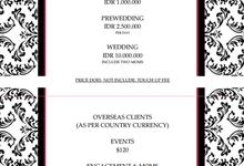 Schedule & Pricelist by Cheryl Patt Artistry