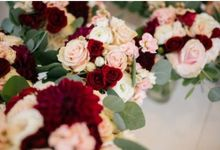 Pastel Pink & Burgundy by Dorcas Floral