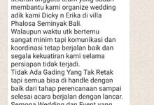 TESTIMONI by Panda Wedding Organizer