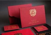 Luxurious French Red Wedding Invitation by Jessica Patricia