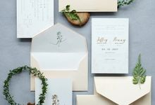 Simply Elegant Wedding Invitation by Jessica Patricia