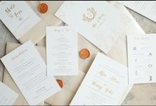 Dreamy Tropical Wedding Invitation by Jessica Patricia
