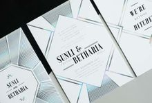 Geometric Holographic Wedding Invitation by Jessica Patricia