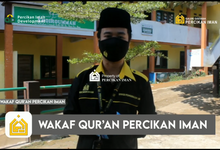 Reporter Wakaf Quran Percikan Iman by Panji Nugraha MC