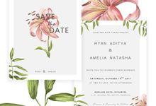 Botanical Wedding Invitation by Tokoku