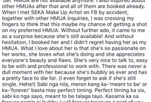 Client reviews by SEKA Makeup Artist