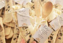 Wedding Cika & Irul - Souvenir Spoon+Fork & Waxbar by Greenbelle Souvenir