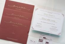 The Wedding of Benny & Stella by SentimeterCard