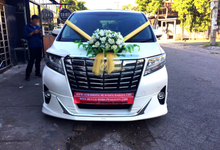 Rental New Alphard White Transformer Putih Wedding by SENTOSA JAYA VIP WEDDING CARS SURABAYA