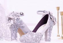 Sepatu Chunky PomPom Brukat Silver by SLIGHT SHOES OFFICIAL SHOP
