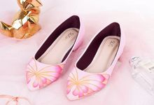 Sepatu Flats Lukis Butterfly Pink by SLIGHT SHOES OFFICIAL SHOP