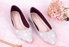 Sepatu Flats Lukis Frosty Silver by SLIGHT SHOES OFFICIAL SHOP