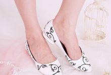 Sepatu Flats Lukis Vinea Putih by SLIGHTshop.com